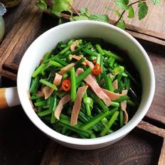 韭菜苔炒火腿肉
