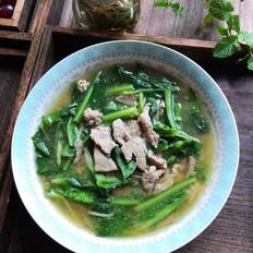莴笋叶猪杂汤