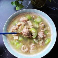 丝瓜肉丸汤