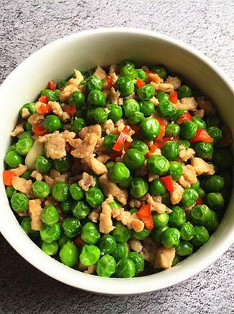 豌豆米炒肉末的做法