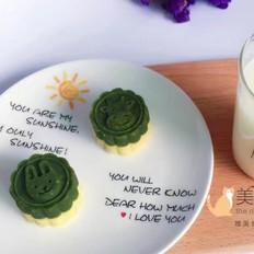 绿豆糕(抹茶味与原味)