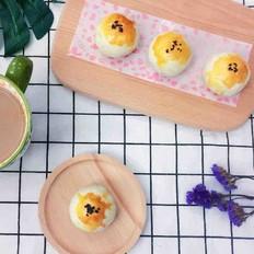 蛋黄酥(奶香紫薯馅)
