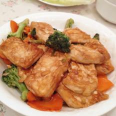 姜汁铁板豆腐