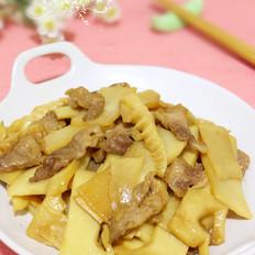 甜笋炒肉片