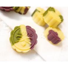 彩色绿豆饼