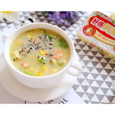 藜麦鲜虾奶炖
