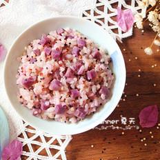 藜麦紫薯饭
