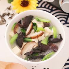 香菇木耳豆腐羹的做法