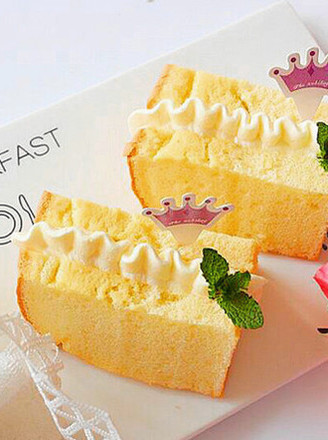鲜奶油戚风蛋糕的做法