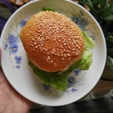 诱人的汉堡包