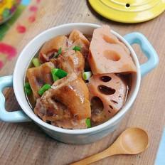 腊猪蹄炖莲藕