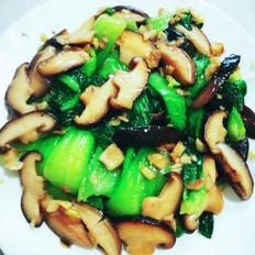 蒜蓉蘑菇炒小油菜