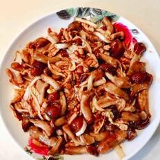 白菜肉丝炒滑子蘑