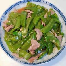 蒜蓉肉片炒四季豆