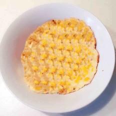 鸡蛋玉米糯米饼