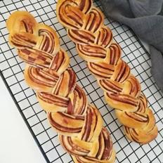 豆沙辫子面包(一次发酵)