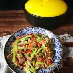 芹菜炒牛肉(砂鍋版)的做法大全