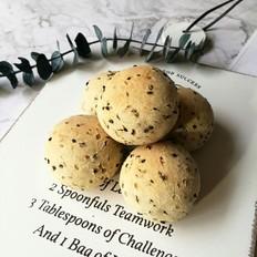 黑芝麻麻糬面包的做法