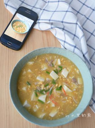 咸蛋黄豆腐羹的做法