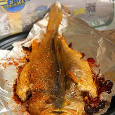 香烤黄花鱼的做法