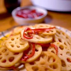 醋溜藕片的做法