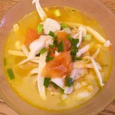 番茄龙利鱼菌菇汤