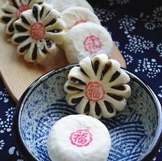 枣泥酥皮月饼&枣花酥