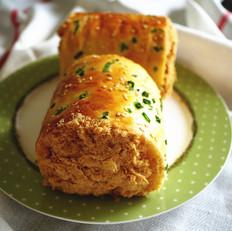 葱香肉松面包卷 中种