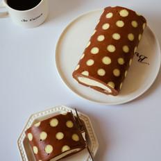 双色波点蛋糕卷