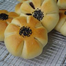 豆沙花花包的做法
