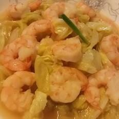 白菜炒虾仁