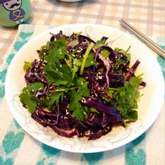 香菜拌紫甘蓝