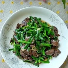 韭菜炒血片