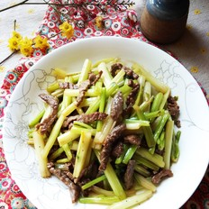 芹菜炒牛肉絲的做法大全