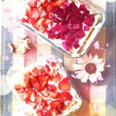 阴天,不下雨,一份甜点来陪你——水果千层蛋糕盒子