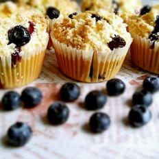 蓝莓稣粒马芬蛋糕