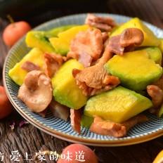 鸡油菌炒金瓜