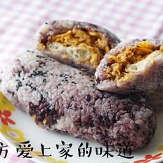 紫糯粢饭团