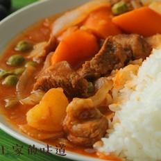 红咖喱牛肉饭
