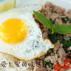 泰国猪肉打抛饭