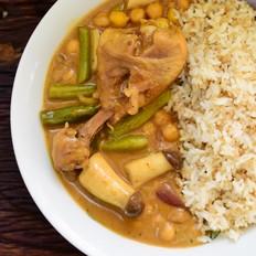 鹰嘴豆咖喱饭的做法