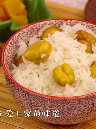 栗子焖饭的做法