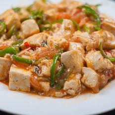 西红柿青椒烩豆腐