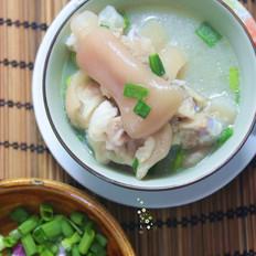 花生绿豆猪蹄汤