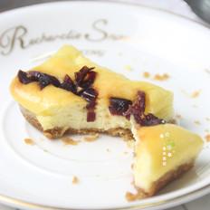 蔓越莓芝士蛋糕小方块