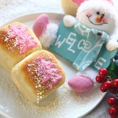 圣诞风苹果酱方形小面包