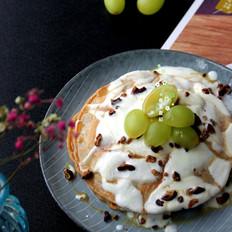 酸奶焦糖山核桃红豆松饼