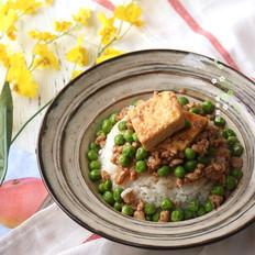 清爽豌豆豆腐盖饭