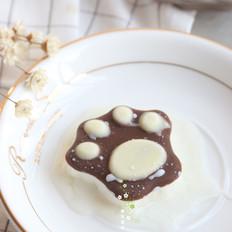猫爪造型巧克力酸奶冰