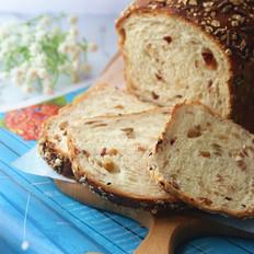 蜂蜜燕麦果干面包